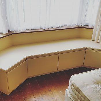 Bedroom storage - windowseat