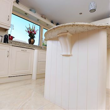 Hardwood ash in-frame kitchen cork